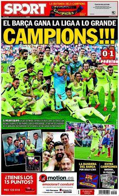 El Barça conquista la liga y da el primer paso al triplete ...