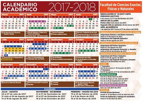 El calendario académico 2017   2018 está disponible