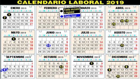 El calendario de festivos de 2019 tendrá  macropuente ...