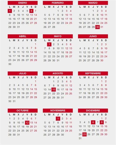 El calendario laboral de 2018 incluye diez festivos ...