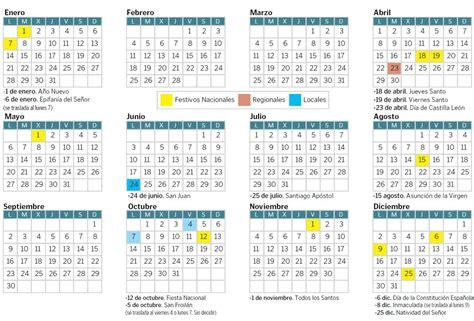 El calendario laboral de 2019 contará con cinco puentes en ...