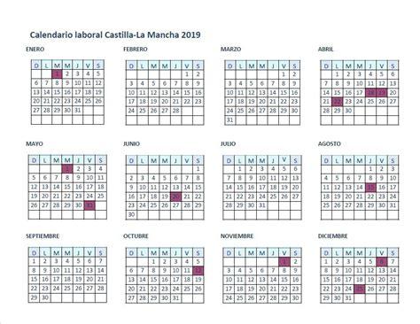 El calendario laboral de Castilla-La Mancha para el año ...
