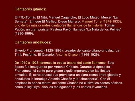 El Cante Flamenco Historia Y Musica
