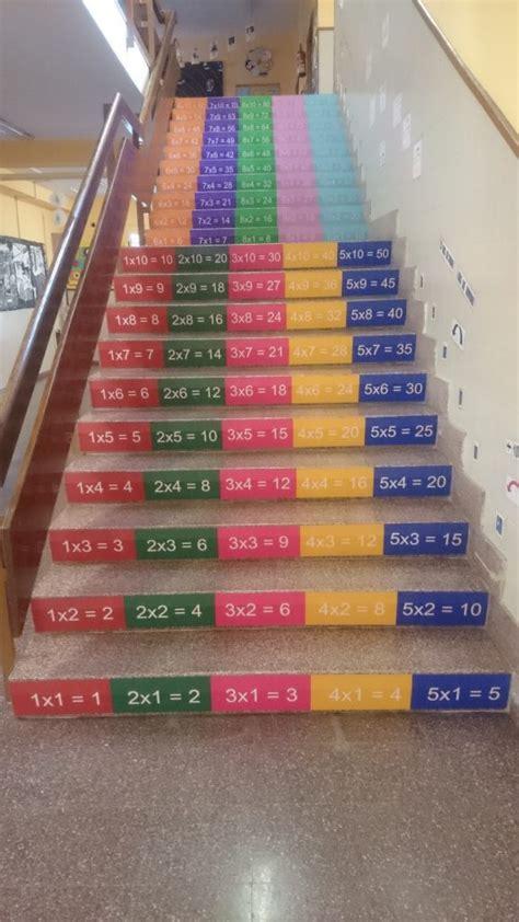 El CEIP San Juan Bautista decora las escaleras del centro ...