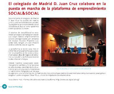 El colegiado de Madrid D. Juan Cruz colabora en la puesta ...