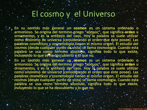 El cosmo y el Universo. - ppt video online descargar