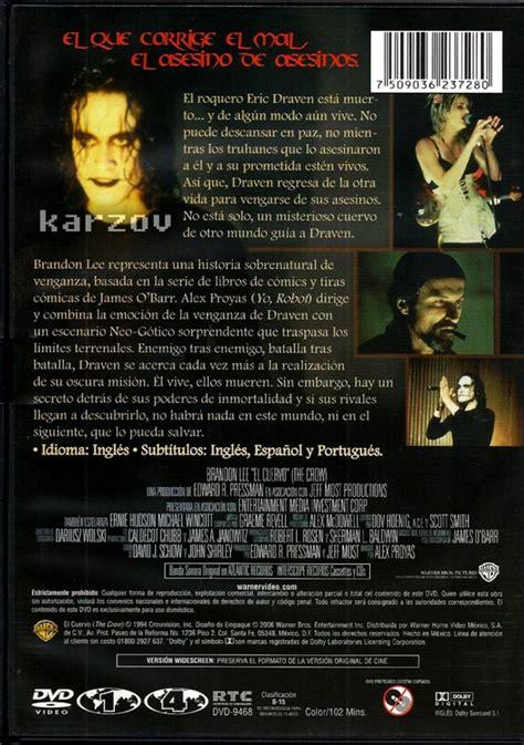 El Cuervo, The Crow, Brandon Lee, Cine Culto Comics, Dvd ...