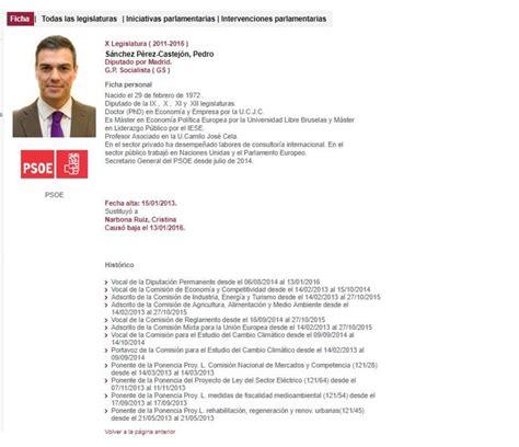 El currículum de Pedro Sánchez: una tesis... ¿y tres ...