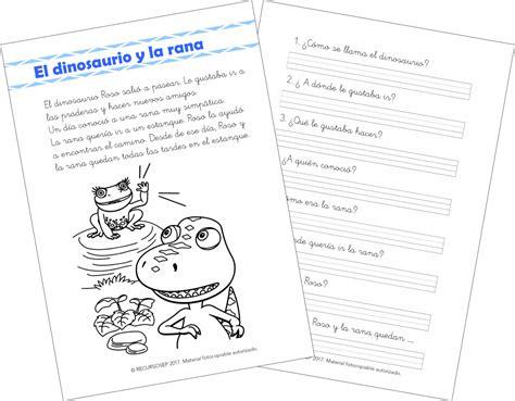 El dinosaurio y la rana – Comprensión Lectora (1.º de ...