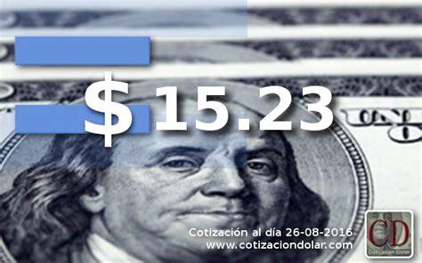 El dólar abre sin cambios a $ 15,23 | Cotización Dólar