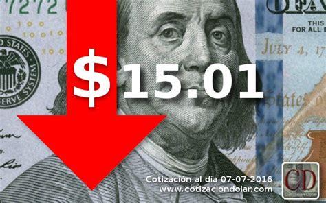 El dólar sigue bajando | Cotización Dólar