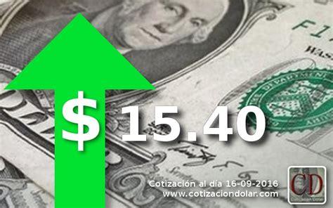 El dólar terminó la semana en alza a $ 15,40 | Cotización ...