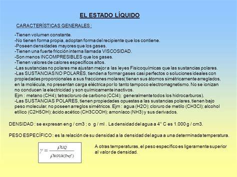 EL ESTADO LÍQUIDO CARACTERÍSTICAS GENERALES :   ppt descargar