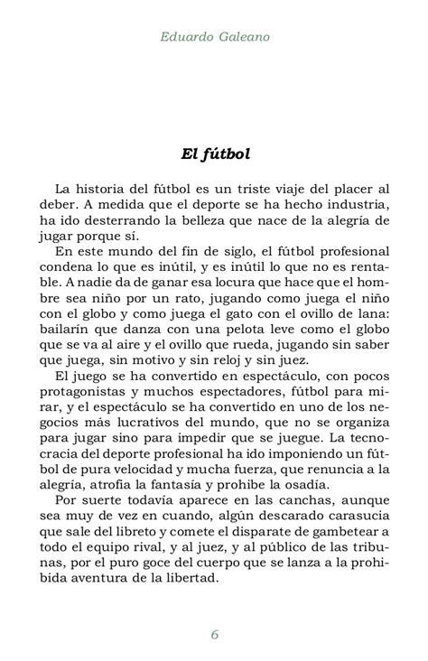 EL FÚTBOL A SOL Y SOMBRA. Eduardo Galeano