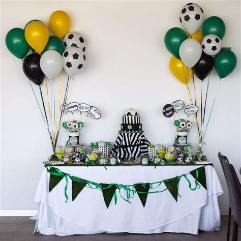El Futbol, el protagonista, decoración para una fiesta bonita