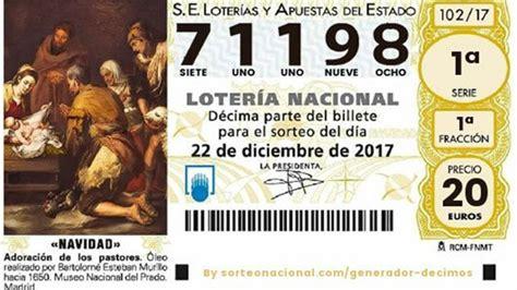 El Gordo de la lotería de Navidad 2017   71198