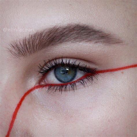 El hilo rojo que nos une pasa hasta por mi ojo | red ...