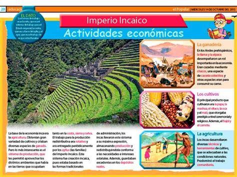 El imperio incaico: todo sobre las actividades económicas ...
