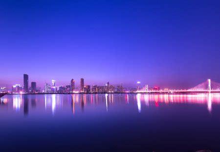 el jeque zayed puente en la noche, abu Dabi, Emiratos ...