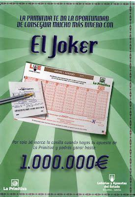 El Joker de hoy jueves 18 de Octubre; 1180158 - Primitiva ...