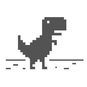 El juego del dinosaurio de Chrome incluso teniendo ...