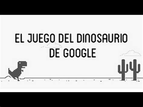 El juego del dinosaurio de Google   YouTube