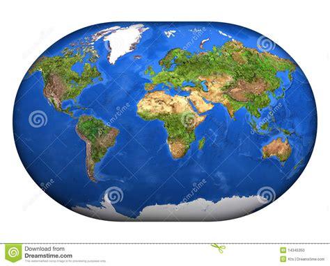 El Mapa Mundi 3D stock de ilustración. Imagen de ambiente ...