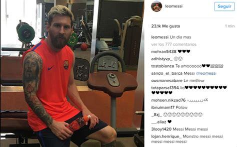 El mensaje optimista de Leo Messi en Instagram