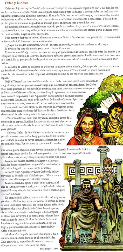 El mito de Orfeo y Eurídice Llevate todo