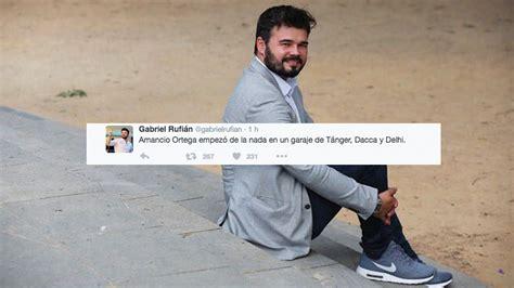 El monumental  zasca  de un tuitero a Gabriel Rufián a ...