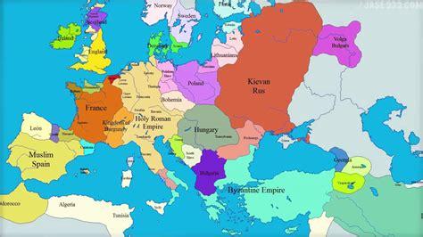 El mundo de 1000 años en Europa mapa 1000 2000   YouTube