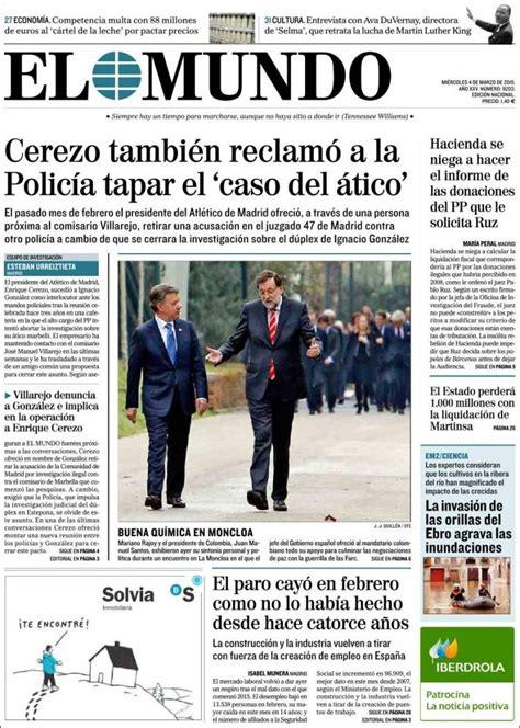 El Mundo. www.elmundo.es, incluye todas las secciones y ...