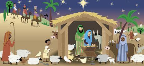 El nacimiento del niño Jesús. Cuento de Navidad