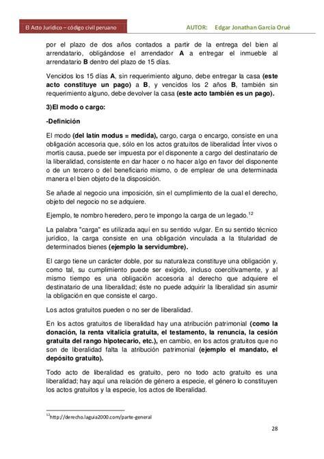 El negocio juridico en el codigo civil peruano