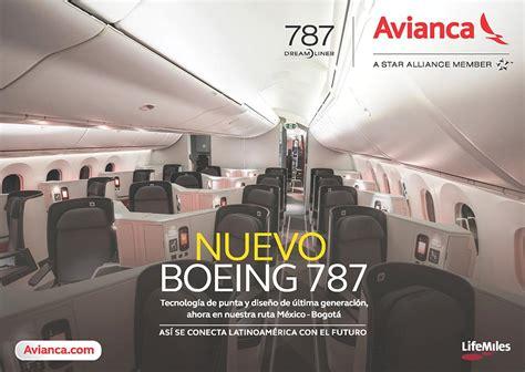 El nuevo Boeing 787-800 de Avianca opera desde la CDMX a ...