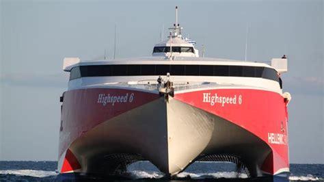 El nuevo catamarán de Naviera Armas