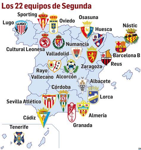 El nuevo mapa de la Segunda División | Noticias de Fútbol ...