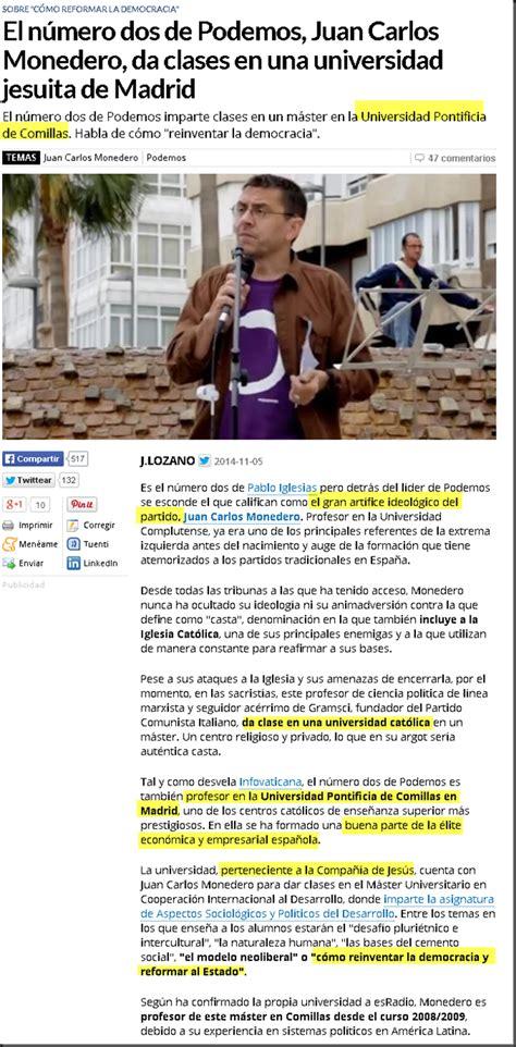 El número dos de Podemos, Juan Carlos Monedero, da clases ...