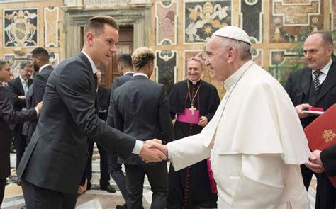 El Papa Francisco recibe a Ter Stegen y a la selección alemana