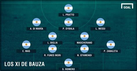 El Patón Bauza paró su primer equipo en la Selección ...