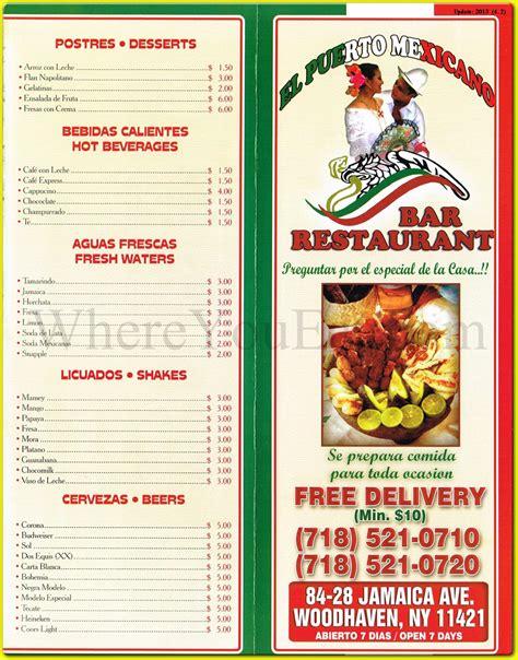 El Puerto Mexicano Mexican Restaurant in Woodhaven, Queens ...
