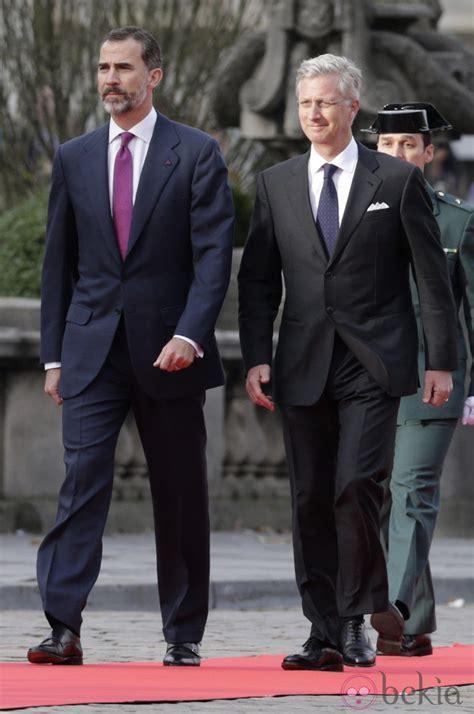 El Rey Felipe VI y el Rey Felipe de Bélgica en la primera ...