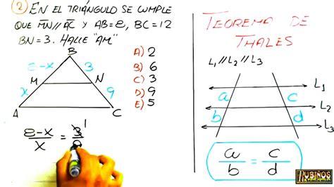 El Teorema de Thales   Ejercicios Resueltos Nivel 1   Paso ...