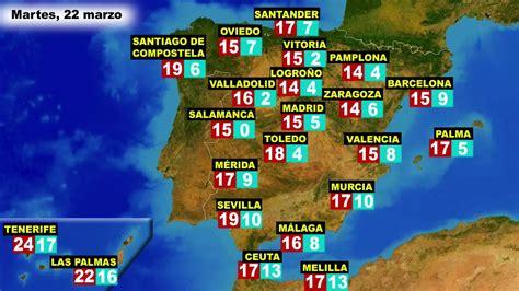 El tiempo en España, por CCAA, previsión para el lunes 21 ...