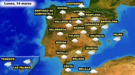 El tiempo en España: Previsión para hoy lunes 14 y mañana ...