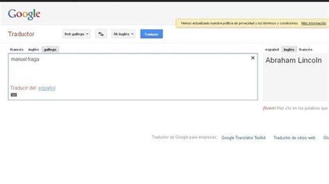 El traductor de Google confunde a Manuel Fraga con Abraham ...