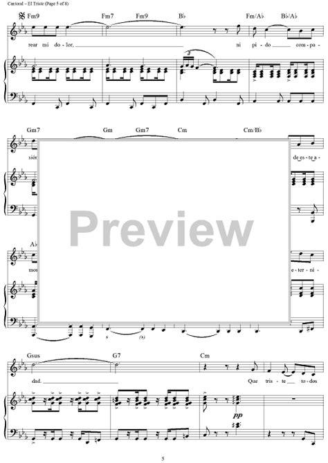 El Triste (Balada) Sheet Music - Music for Piano and More ...