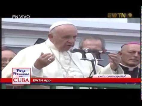 El último mensaje del Papa Francisco en Cuba - YouTube
