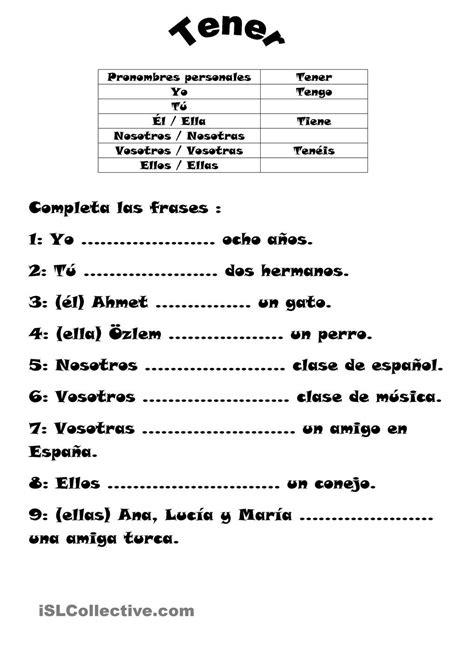 el verbo tener | Spanish Class | Pinterest | Espagnol ...