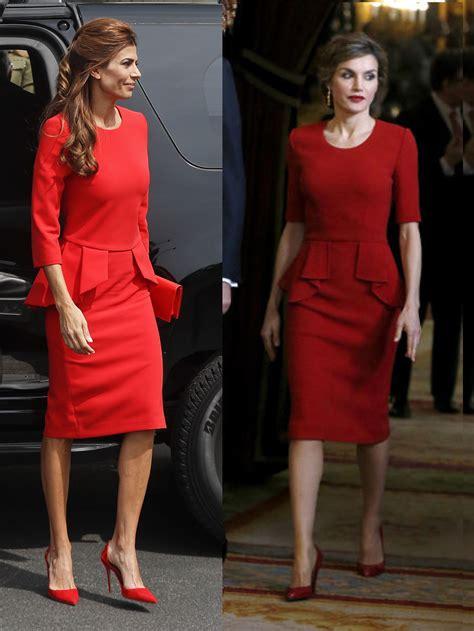 El vestido de Juliana Awada ¿copia de uno de la reina Letizia?